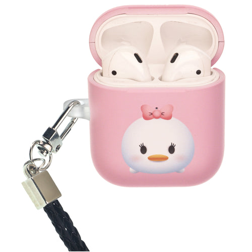 Disney AirPods Case Neck Lanyard Protective Hard PC Shell Strap Hole Cover - Cute Daisy Duck