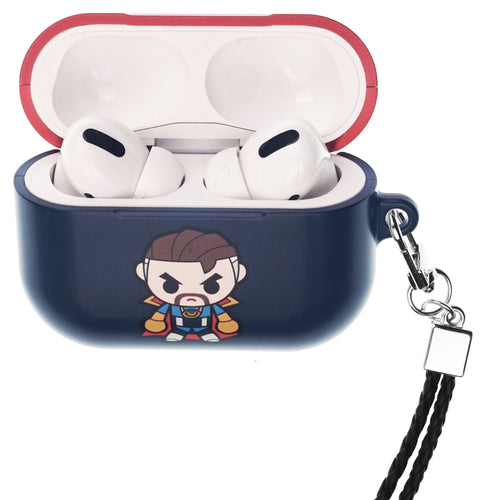 Marvel Avengers AirPods Pro Case Neck Lanyard Hard PC Shell Strap Hole Cover - Cute Doctor Strange