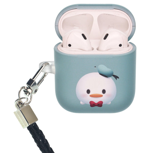 Disney AirPods Case Neck Lanyard Protective Hard PC Shell Strap Hole Cover - Cute Donald Duck