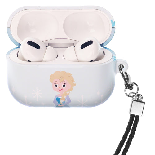 Disney Frozen AirPods Pro Case Neck Lanyard Hard PC Shell Strap Hole Cover - Cute Elsa
