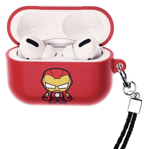 Marvel Avengers AirPods Pro Case Neck Lanyard Hard PC Shell Strap Hole Cover - Cute Iron Man