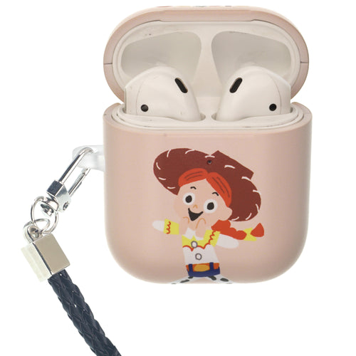 Toy Story 4 AirPods Case Neck Lanyard Protective Hard PC Shell Strap Hole Cover - Cute Jessie