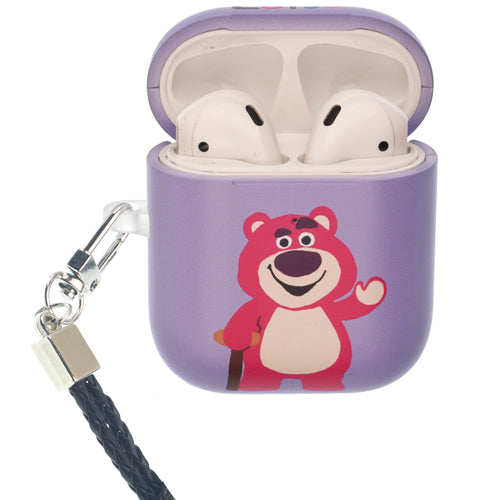 Toy Story 4 AirPods Case Neck Lanyard Protective Hard PC Shell Strap Hole Cover - Cute Lotso