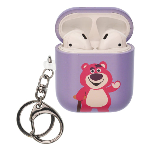 Toy Story 4 AirPods Case Key Ring Keychain Key Holder Hard PC Shell Strap Hole Cover [Front LED Visible] - Cute Lotso