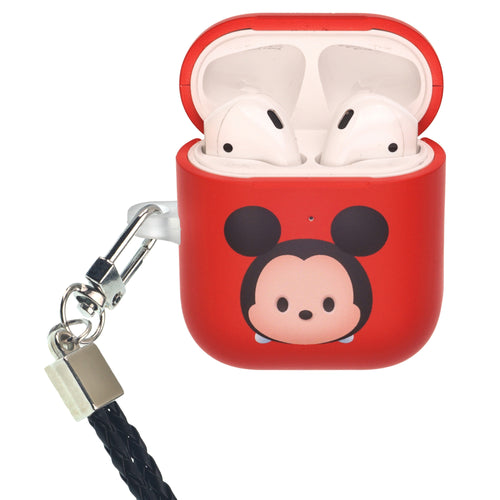 Disney AirPods Case Neck Lanyard Protective Hard PC Shell Strap Hole Cover - Cute Mickey Mouse