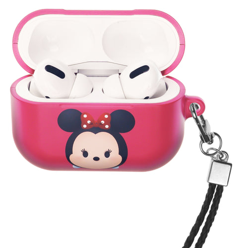 Disney AirPods Pro Case Neck Lanyard Hard PC Shell Strap Hole Cover - Cute Minnie Mouse