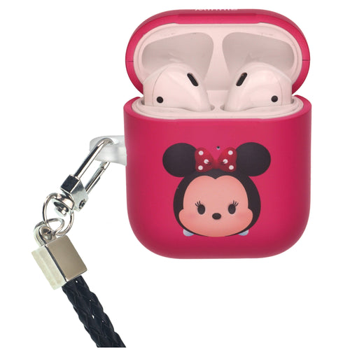 Disney AirPods Case Neck Lanyard Protective Hard PC Shell Strap Hole Cover - Cute Minnie Mouse