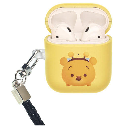 Disney AirPods Case Neck Lanyard Protective Hard PC Shell Strap Hole Cover - Cute Pooh