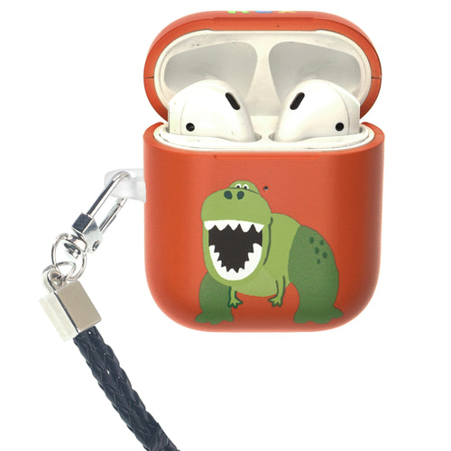 Toy Story 4 AirPods Case Neck Lanyard Protective Hard PC Shell Strap Hole Cover - Cute Rex