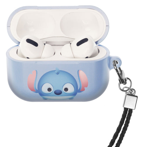 Disney AirPods Pro Case Neck Lanyard Hard PC Shell Strap Hole Cover - Cute Stitch