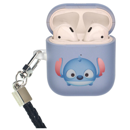 Disney AirPods Case Neck Lanyard Protective Hard PC Shell Strap Hole Cover - Cute Stitch