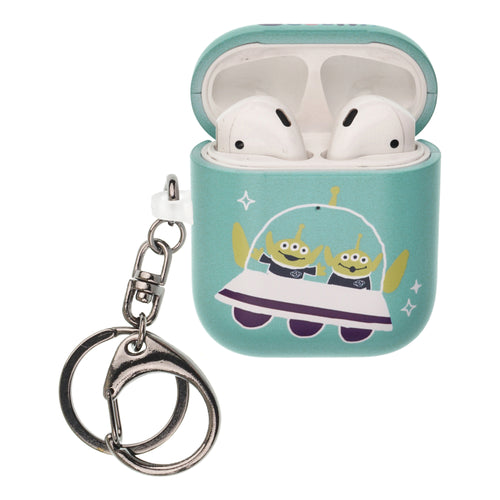 Toy Story 4 AirPods Case Key Ring Keychain Key Holder Hard PC Shell Strap Hole Cover [Front LED Visible] - Cute Ufo