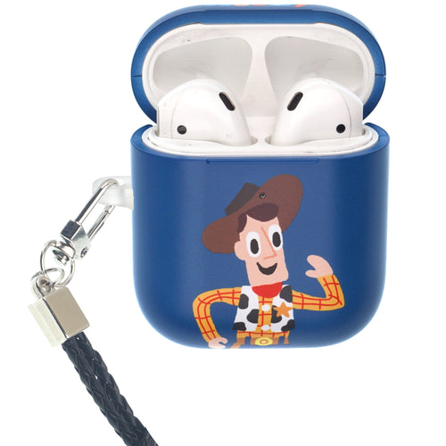 Toy Story 4 AirPods Case Neck Lanyard Protective Hard PC Shell Strap Hole Cover - Cute Woody