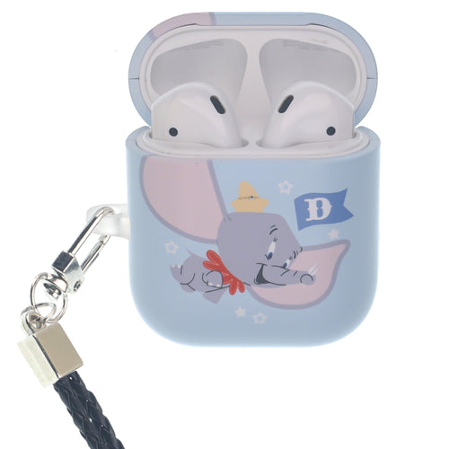 Disney AirPods Case Neck Lanyard Hard PC Shell Strap Hole Cover - Dumbo Fly