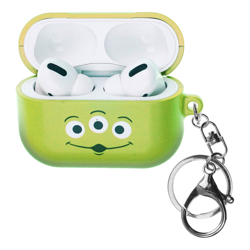 Disney AirPods Pro Case Key Ring Keychain Key Holder Hard PC Shell Strap Hole Cover - Face Aliens