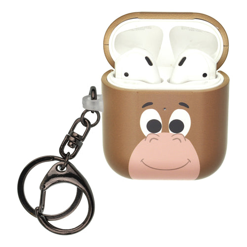 Disney AirPods Case Key Ring Keychain Key Holder Hard PC Shell Strap Hole Cover [Front LED Visible] - Face Bulls Eye
