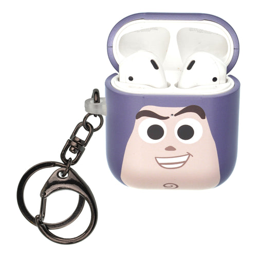 Disney AirPods Case Key Ring Keychain Key Holder Hard PC Shell Strap Hole Cover [Front LED Visible] - Face Buzz