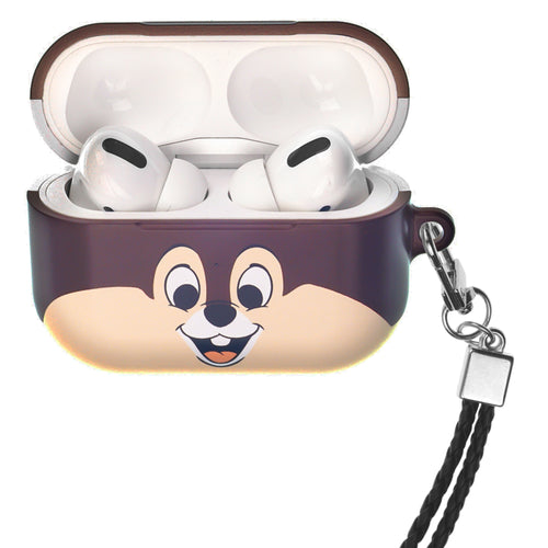 Disney AirPods Pro Case Neck Lanyard Hard PC Shell Strap Hole Cover - Face Chip