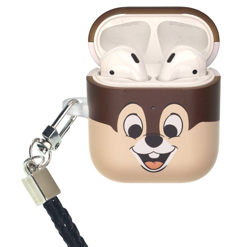 Disney AirPods Case Neck Lanyard Protective Hard PC Shell Strap Hole Cover - Face Chip