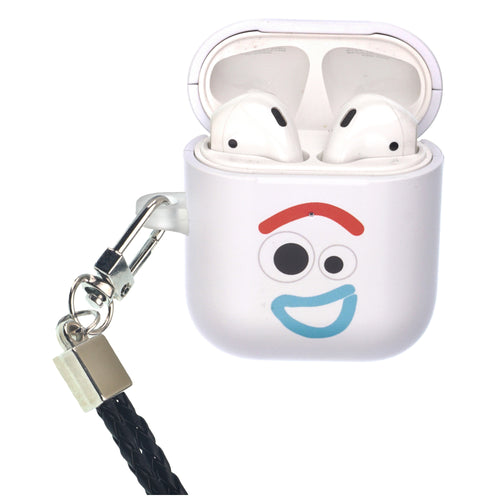 Disney AirPods Case Neck Lanyard Protective Hard PC Shell Strap Hole Cover - Face Forky