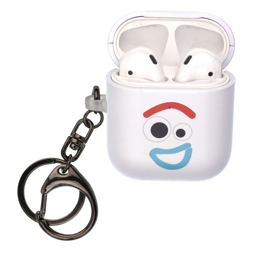 Disney AirPods Case Key Ring Keychain Key Holder Hard PC Shell Strap Hole Cover [Front LED Visible] - Face Forky