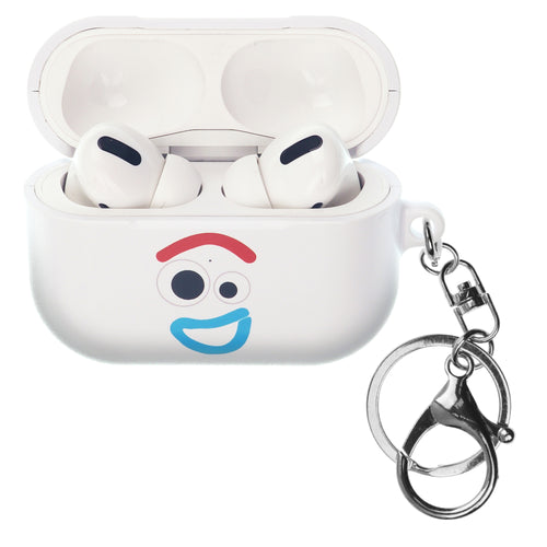 Disney AirPods Pro Case Key Ring Keychain Key Holder Hard PC Shell Strap Hole Cover - Face Forky