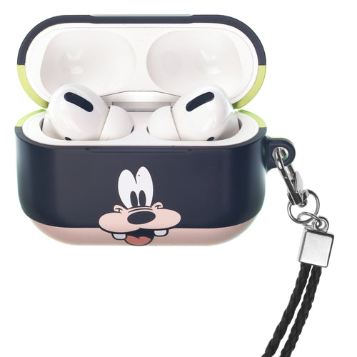 Disney Goofy AirPods Pro Case Neck Lanyard Hard PC Shell Strap Hole Cover - Face Goofy