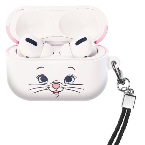 Disney The AristoCats AirPods Pro Case Neck Lanyard Hard PC Shell Strap Hole Cover - Face Marie