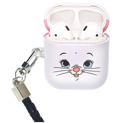 Disney The AristoCats AirPods Case Neck Lanyard Protective Hard PC Shell Strap Hole Cover - Face Marie