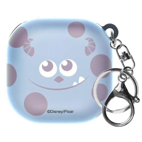 Monsters, Inc., Galaxy Buds Live Case (2020) Key Ring Keychain Key Holder Hard PC Shell Cover - Face Sulley