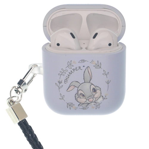 Disney AirPods Case Neck Lanyard Hard PC Shell Strap Hole Cover - Face Thumper