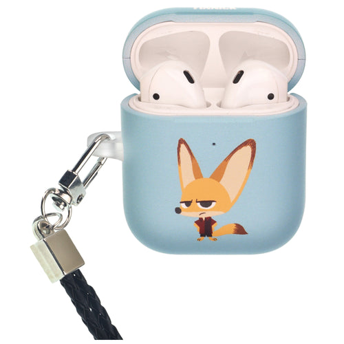Disney AirPods Case Neck Lanyard Protective Hard PC Shell Strap Hole Cover - Zootopia Finnick