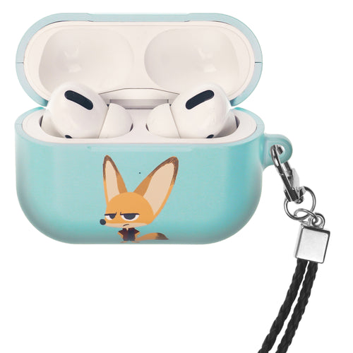 Disney AirPods Pro Case Neck Lanyard Hard PC Shell Strap Hole Cover - Zootopia Finnick