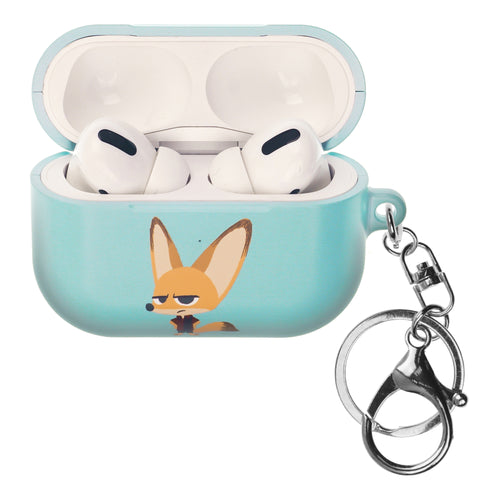 Disney AirPods Pro Case Key Ring Keychain Key Holder Hard PC Shell Strap Hole Cover - Zootopia Finnick