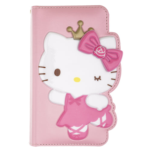 iPhone 12 mini Case (5.4inch) HELLO KITTY Diary Wallet Flip - Dance Baby Pink
