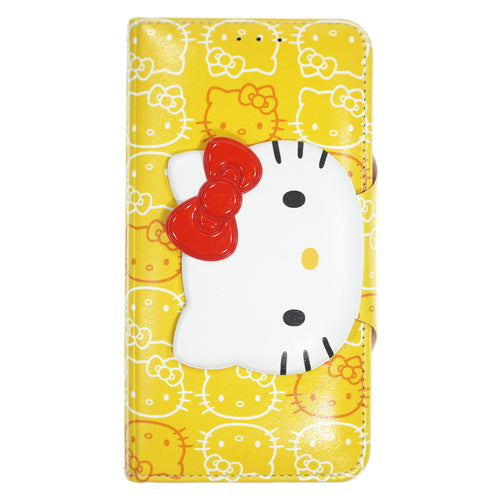 iPhone 12 mini Case (5.4inch) HELLO KITTY Diary Wallet Flip - Button Face Yellow