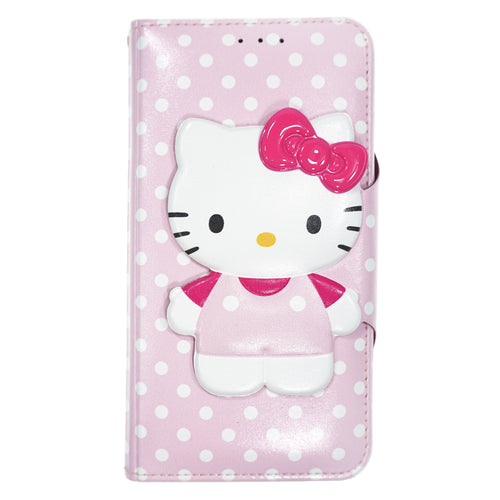 iPhone 12 mini Case (5.4inch) HELLO KITTY Diary Wallet Flip - Button Body Baby Pink