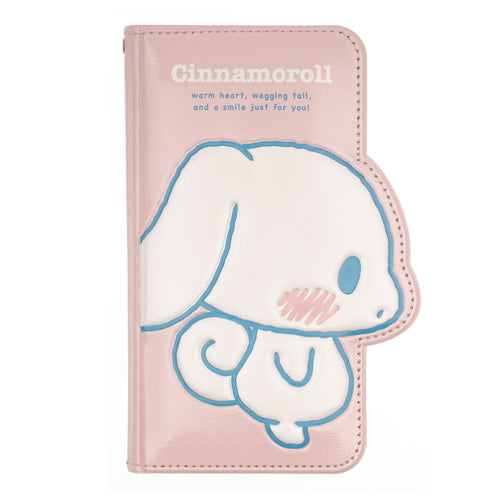 iPhone 11 Case (6.1inch) Sanrio Diary Wallet Flip Mirror Cover - Cinnamoroll Shy Pink