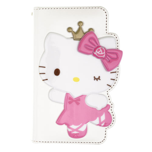 iPhone 12 mini Case (5.4inch) HELLO KITTY Diary Wallet Flip - Dance White