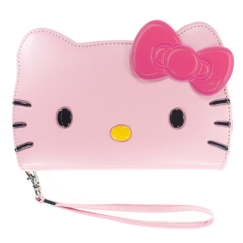 iPhone 12 mini Case (5.4inch) HELLO KITTY Diary Wallet Flip Strap Included Cover - Big Face Baby Pink