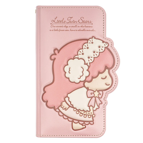 iPhone 11 Case (6.1inch) Sanrio Diary Wallet Flip Mirror Cover - Little Twin Stars Pink