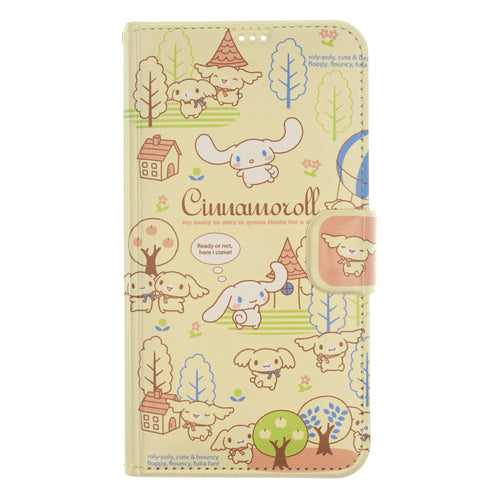 iPhone 11 Case (6.1inch) Sanrio Diary Wallet Flip Mirror Cover - Cinnamoroll Town