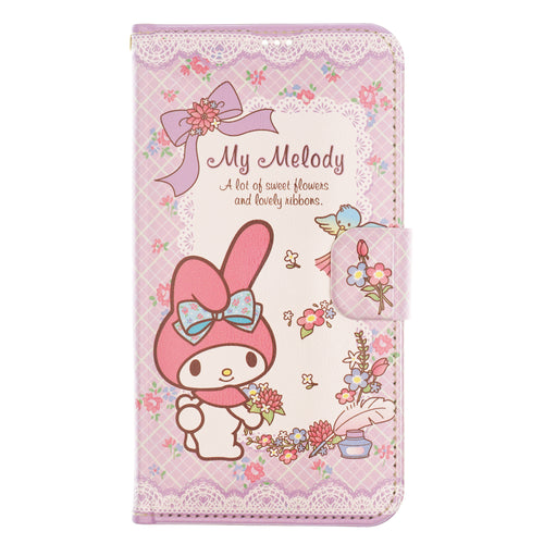 iPhone 12 mini Case (5.4inch) Sanrio Diary Wallet Flip Mirror Cover - My Melody Diary