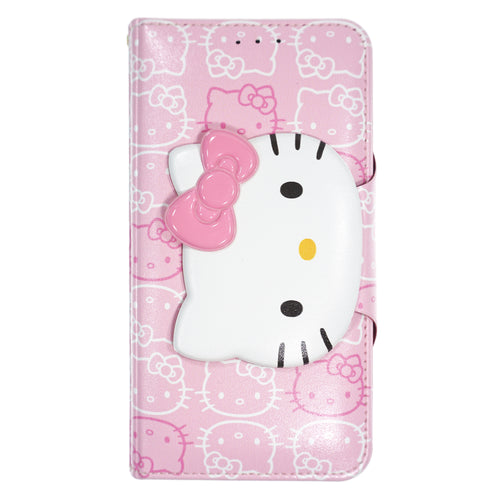 iPhone 12 mini Case (5.4inch) HELLO KITTY Diary Wallet Flip - Button Face Baby Pink