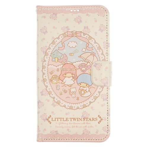 iPhone 12 mini Case (5.4inch) Sanrio Diary Wallet Flip Mirror Cover - Little Twin Stars Diary