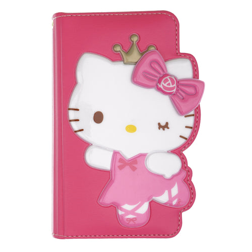 iPhone 12 mini Case (5.4inch) HELLO KITTY Diary Wallet Flip - Dance Hot Pink