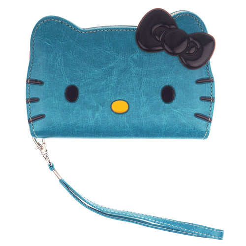 iPhone 12 mini Case (5.4inch) HELLO KITTY Diary Wallet Flip Strap Included Cover - Big Face Mint