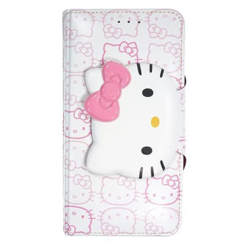 iPhone 12 mini Case (5.4inch) HELLO KITTY Diary Wallet Flip - Button Face White