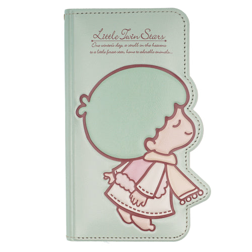 iPhone 11 Case (6.1inch) Sanrio Diary Wallet Flip Mirror Cover - Little Twin Stars Mint