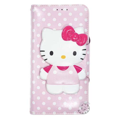 iPhone 6S / iPhone 6 Case (4.7inch) HELLO KITTY Diary Wallet Flip - Button Body Baby Pink